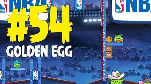 Angry Birds Seasons Ham Dunk Golden Egg 54 Walkthrough