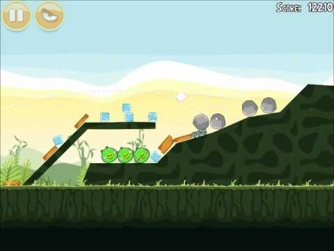 Official Angry Birds Walkthrough Poached Eggs 2-4