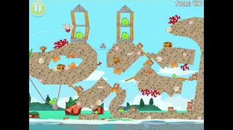 "Angry Birds Seasons Piglantis Golden Egg 34 Walkthrough 2012 ""Big Seashell"""