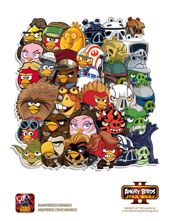 Image  AngryBirdsStarWarsIIAllCharactersjpg  Angry Birds