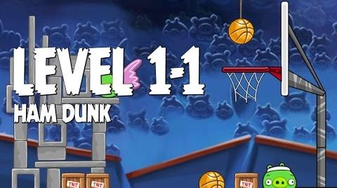 Angry Birds Seasons Ham Dunk 1-1 Walkthrough 3 Star