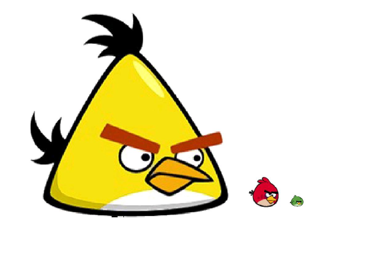 Yellow Angry Bird Flying Mighty Yellow Bird