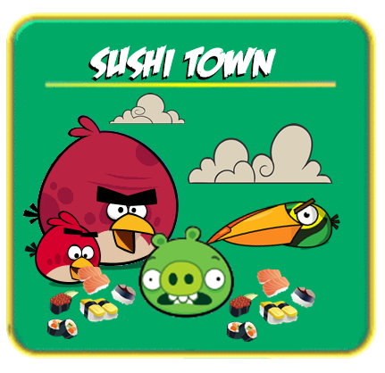 Sushi town angry birds fanon wiki fandom powered by wikia for Angry fish sushi