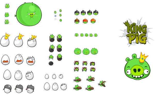 Image Size Chart Birds And Pigs Png: Image - King Pig Mode.png