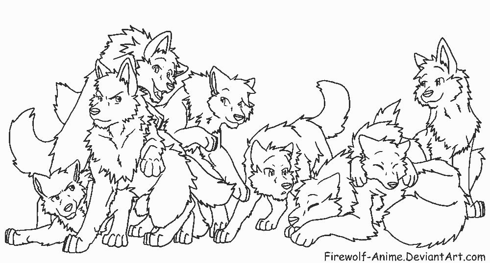 pack of dogs coloring pages - photo#2
