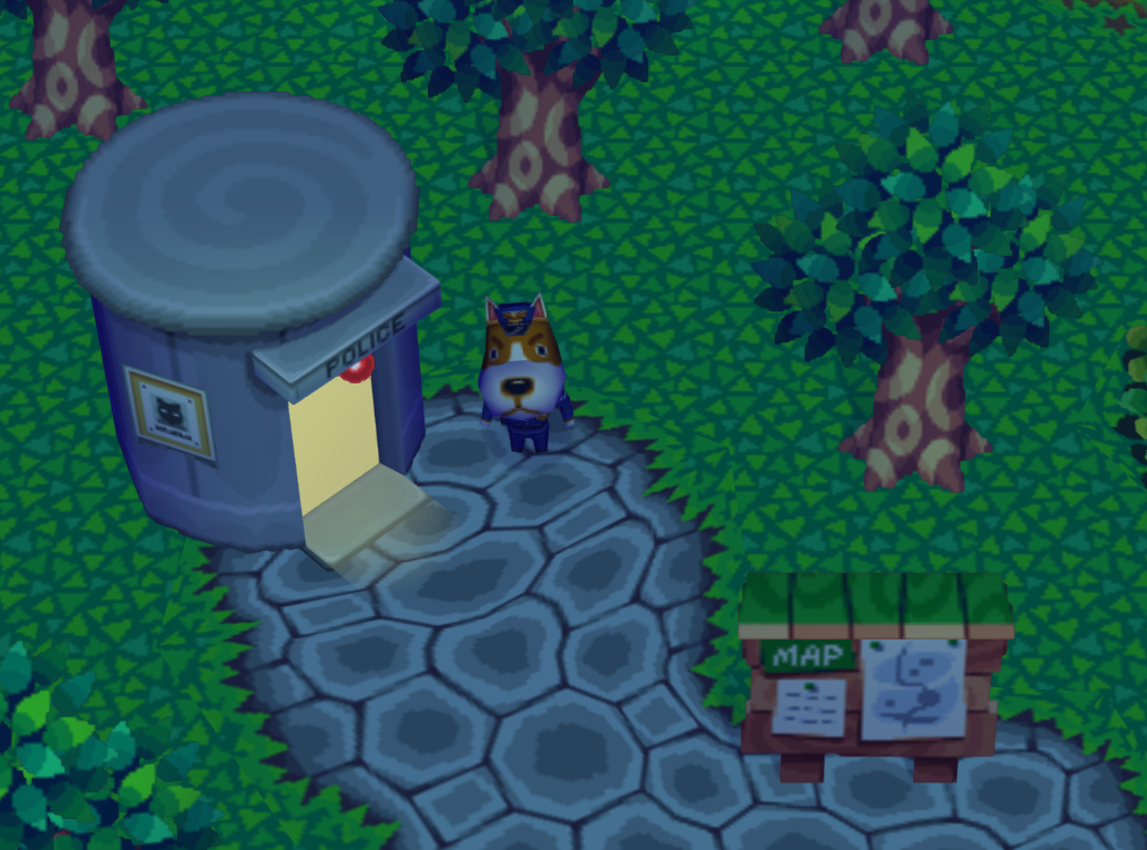 Police station animal crossing wiki fandom powered by for Modern house acnl