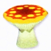 Mushroom End Table