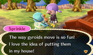 Sprinkle and gyroid