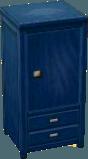 Dark blue wardrobe
