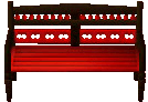 Exotic bench black and red