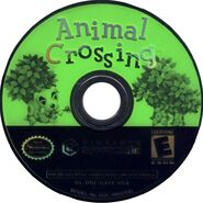 Animal Crossing cover Gamecube optical disk scan