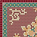 Flooring mosaic tile