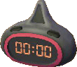 Astro red and black clock
