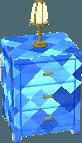 Sapphire blue dresser
