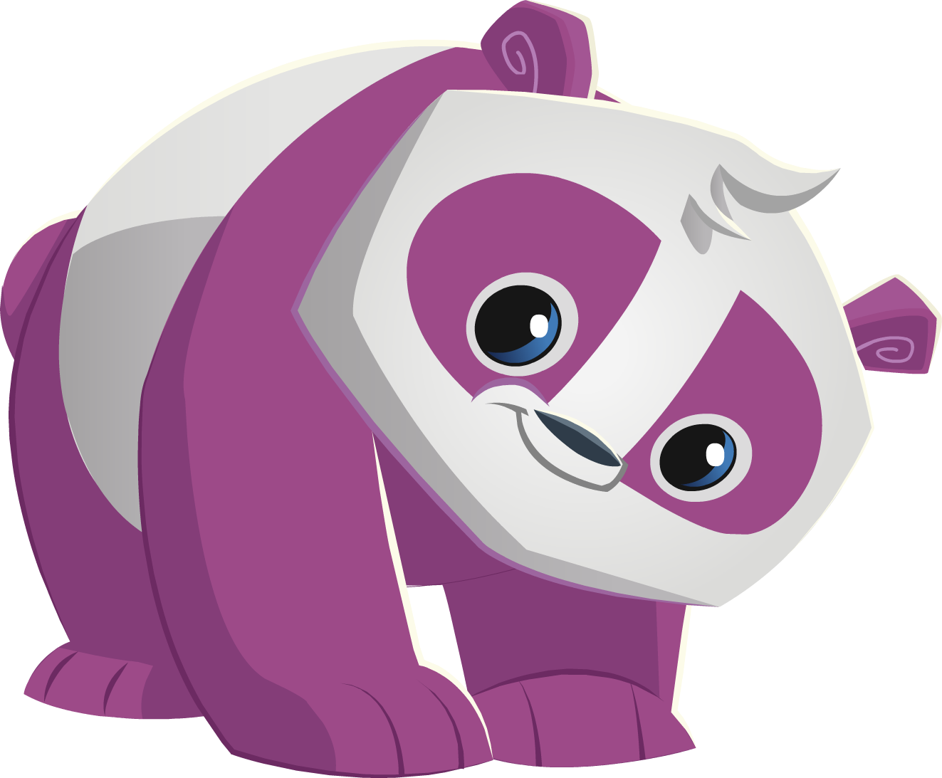 Coloring pages animal jam - Purple Panda