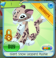 Diamond-Shop Giant-Snow-Leopard-Plushie