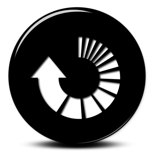 Image - 007699-glossy-black-3d-button-icon-arrows-arrow ...