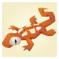 Gecko Plushie Orange