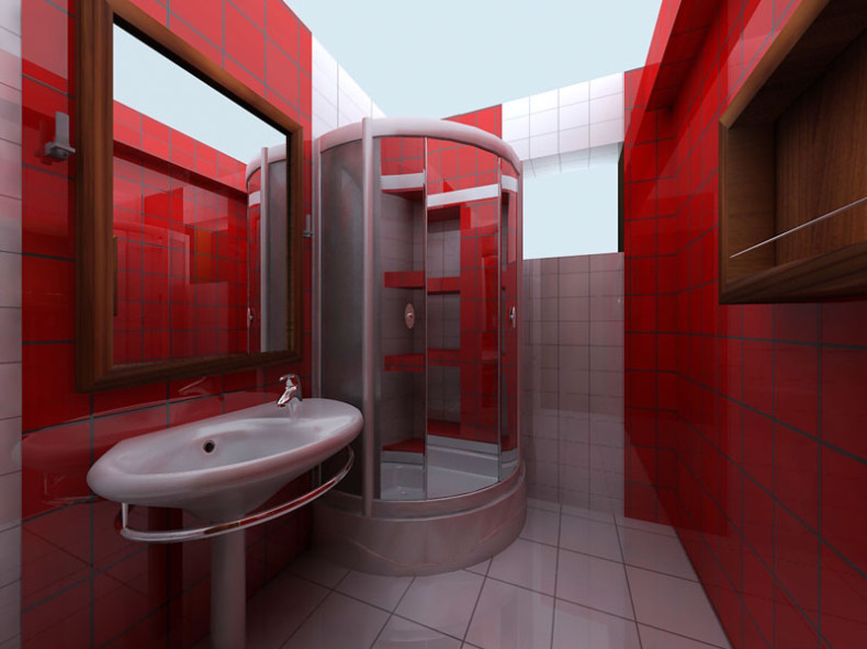 Full resolution. Image   Red bathroom design 790x592 jpg   Anime Arts Wiki   Fandom