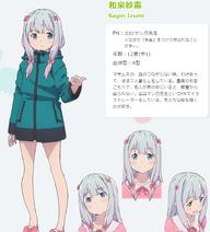 Sagiri Izumi Anime Concept Art