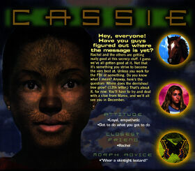 Animorphs 1999 calendar october cassie