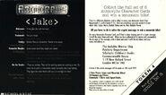Jake character card uk back