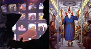 David Mattingly art subway wizard on animorphs 35 proposal inside cover