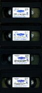 All four US VHS tapes without cases