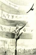Rachel gymnastics tobias the encounter japanese illustration