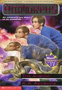 Animorphs the answer book 53 cover showing tagline at top