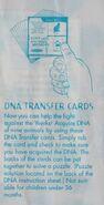 Animorphs kfc kids meal dna transfer cards instructions