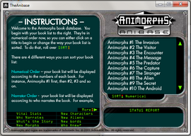 Anibase instructions screenshot