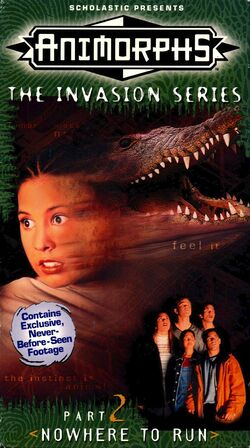 Animorphs US VHS tape Part 2 front cover Nowhere to Run