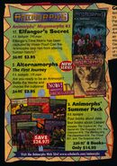 Elfangors secret alternamorphs book orders ad