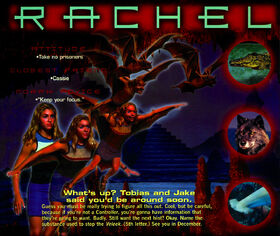 Animorphs 1999 calendar august rachel