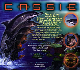 Animorphs 1999 calendar april cassie