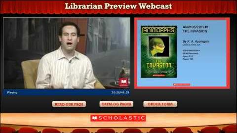 Animorphs reprint, Librarian Preview Webcast