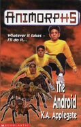 Animorphs 10 the android UK cover earlier
