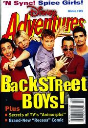 3 v9 Disney Adventures magazine cover Winter 1999 Backstreet Boys