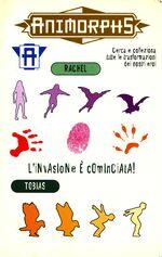 Animorphs separation book 32 italian stickers adesivi rachel tobias