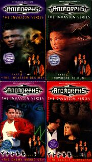 All 4 Animorphs US VHS tapes front