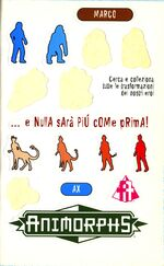 Animorphs 19 the departure italian stickers adesivi