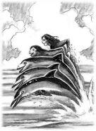 Animorphs the message book 4 cover david mattingly original sketch