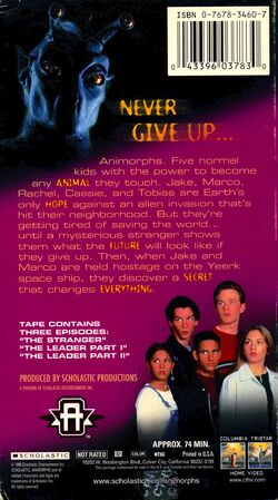 Animorphs US VHS tape Part 3 back cover The Enemy Among Us