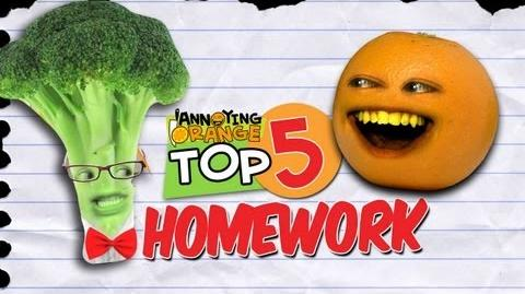 Annoying Orange - Top 5 Ways To Get Out Of Your Homework!-0