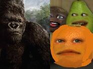 Annoying Orange Meets King Kong