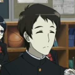 Daisuke in his uniform jacket.