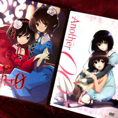 A manga and DVD of Another 0
