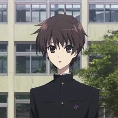 Kouichi at school.