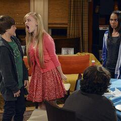 Olive yells at Fletcher. I love this photo:)